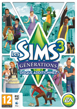 Jaquette Les Sims 3 Générations