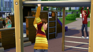 Children playing in park TS4