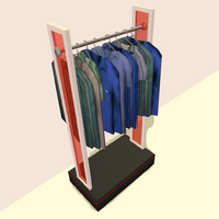 Zecutine's Cube Stand Clothing Rack (For Dudes)
