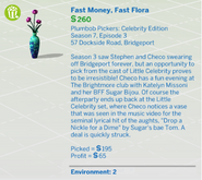 Fast Money, Fast Flora