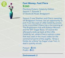 Fast Money, Fast Flora
