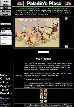 Website simwardrobe paladins place