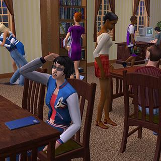 Jóvenes adultos en un dormitorio.