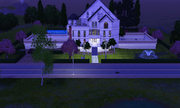 Saint Mansion at night