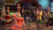TS4ПД Симы танцуют в баре