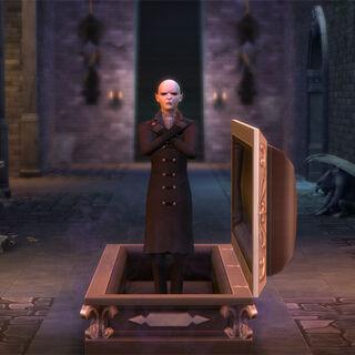 Vlad despierta de su ataúd.