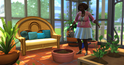 TS4 Sim using a Planter bowl