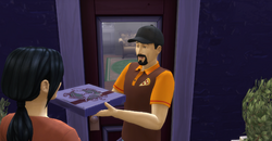 The Sims 4 Pizza Guy