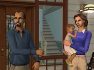 Fabio, Lisa et Maria bambine