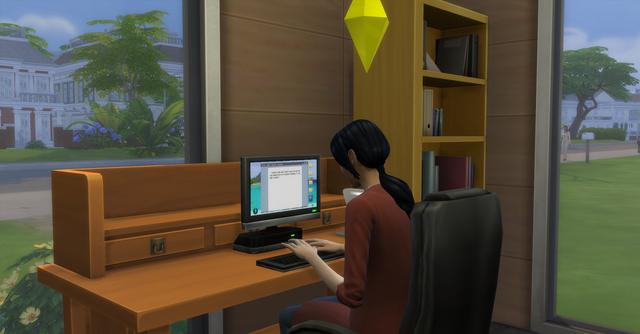 File:TS4 Sim Practicing Writing.png