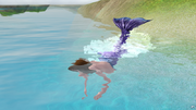 Русалка в море
