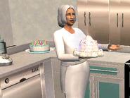 Isabella på kjøkkenet
