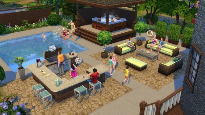 The sims 4 perfect patio stuff the sims wiki fandom for Pool design sims 4