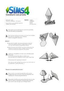 Tutoriel Construire son prisme Les Sims 4