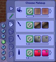 CAS - Maquillage, pilosité et lunettes (Les Sims 2)