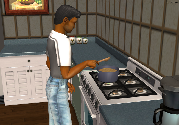 Sherman cooking mac and cheese