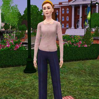 Twyla en ropa formal