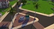 Skyward Palms fountain