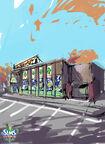 Les Sims 3 University Concept art 01