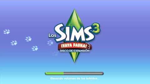 Pantalla de carga de Los sims 3 ¡Valla Fauna!.mp4