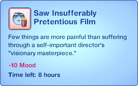 Saw Insufferably Pretentious Film
