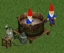 Gardening gnomes getting drunk