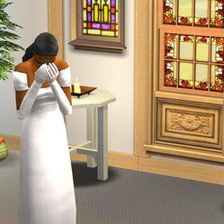Olvido fue plantada en el altar por <a href=