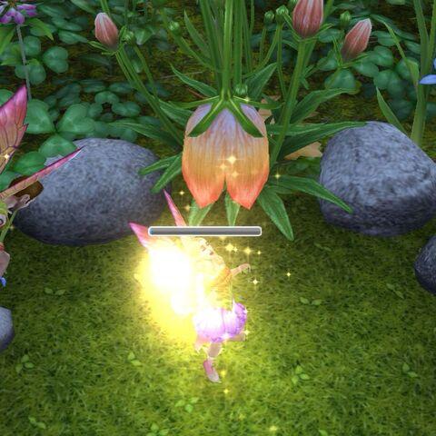 Sims con alas de hada después de haber completado la misión