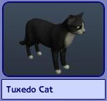 Tuxedo Cat (Sims 2)