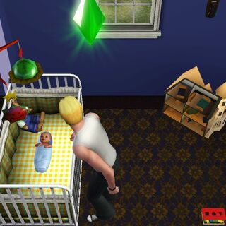 Un bebé llorando.