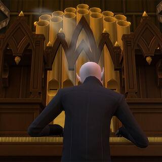 Vlad tocando el órgano.