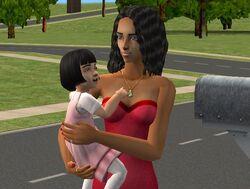 Диана и ее дочь Лада