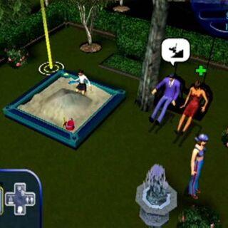 La familia Lápida en el patio trasero