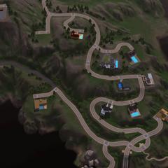 Mapa de la ciudad - Área de los famosos