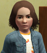 Frankie as a child