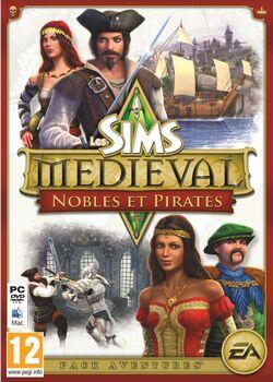 Jaquette Les Sims Medieval Nobles et Pirates