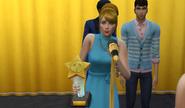 Boles accepts award