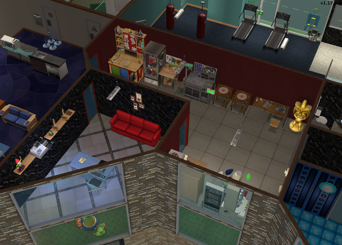Amar's Hangout crafting room and office overhead