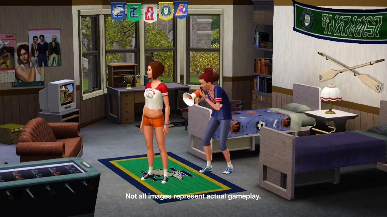 The Sims 3 University Life Trailer 12 Jpg