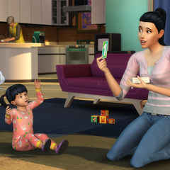Madre enseñando a su hija.