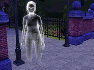 Enola Green as a ghost