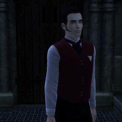 Los ojos rojos de un vampiro recién convertido.