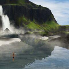 La Laguna Azul en Los Sims 3 Aurora Skies.