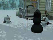 Grim Reaper Snowman