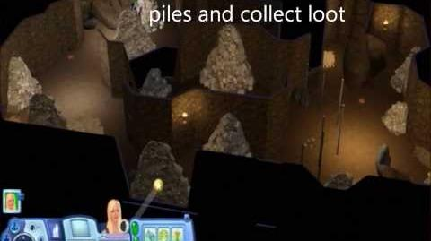Sims 3 World Adventures Al Simhara Copper Quarry with text