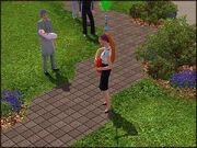 Sim spiller gitar i park