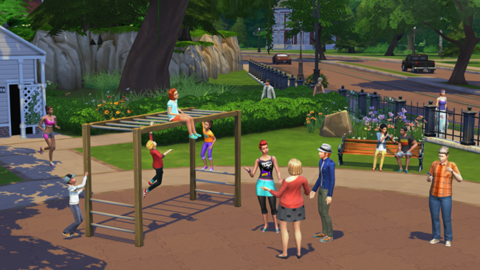 The Sims 4 park