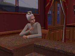 La Señora Culoprieto, sonrie en la barra
