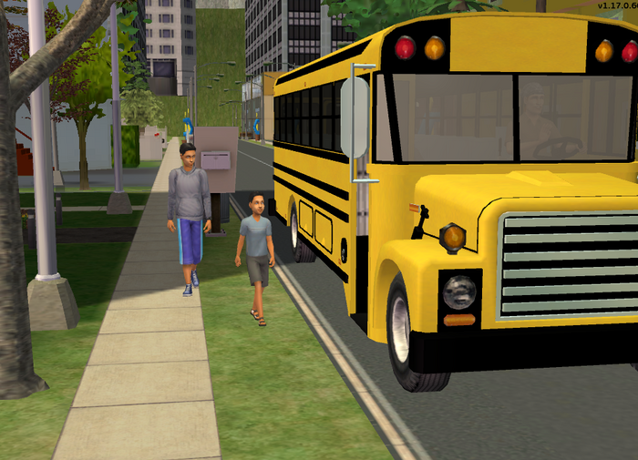 Lucas and Simon going to school