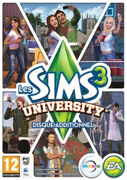 Packshot Les Sims 3 University